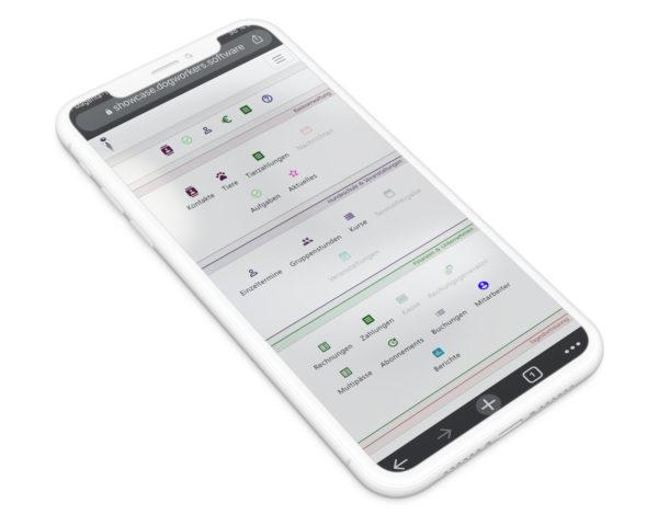 DogWorkers auf dem Mobiltelefon bzw. Handy