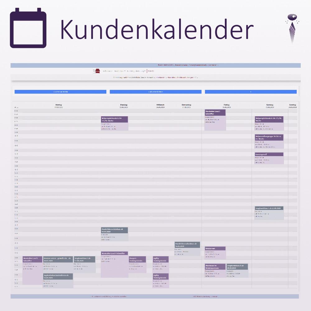 Wochenkalender für Kunden